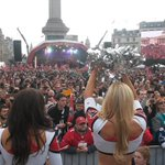 A view of the awesome crowd at the Fan Rally. #UKFalcons #RiseUp http://t.co/029HC5WeL3