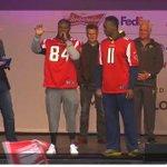RT @Atlanta_Falcons: RT @nfl_uk: What a pair of receivers - @juliojones_11 & @roddywhiteTV. @Atlanta_Falcons on stage at Fan Rally #RiseUp http://t.co/ibvJkvF96i