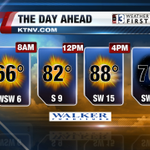 Skies stay predominantly clear today with highs near 90°. Winds will be gusty this afternoon. #Vegas #nvwx http://t.co/WTJ8xKQRNu
