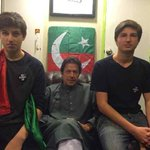Last week with my boys Qasim & Sulaiman in Azadi container. http://t.co/wyeY3aPFkP