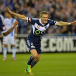 Besart Berisha of the @gomvfc celebrates a goal during the @ALeague Rd3 between @gomvfc vs @MelbourneCity http://t.co/Bi5yZwBwuV