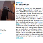 .@BramStokerdub is proving theres nothing like a new festival to get the blood pumping.... http://t.co/mAVC4UAZq1 http://t.co/KhB8SpbELw
