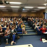 The lecture theatre is packed for our first nursing/ODP talk #ueaopenday http://t.co/Tq6hyC8Kvr