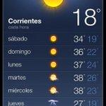 RT @diarioepoca: Buen día amigos! Sábado con cielo algo nublado en la ciudad de Corrientes y vientos leves del sector Este. http://t.co/4YS3pG3xx1