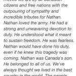 RT @AM980News: Statement from Corporal Nathan Cirillos family: http://t.co/yR1Q9Wgqc1
