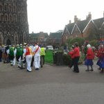 Ending the #L2F procession at Lichfield Cathedral, the venue for tonights Oysterband concert http://t.co/l5aIv839Hz