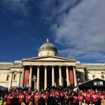 Sunny welcome for the entire @Atlanta_Falcons team from the London fans #RiseUp #NFLUK http://t.co/1NnXOgz6Yz