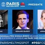 RT @JulienTellouck: Notre @NeoAngel national dans les personnalités du #PARISMELTINGSPOT avec @huaweidevicefr ! #PSGFCGB http://t.co/bDGmPhI2Ou