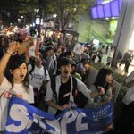 原宿駅近く。ゴールはもうすぐ! #SASPL http://t.co/pN0TkMGsND