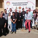 Los jóvenes azules con @ObispoCartagena. Eternamente agradecidos con su cercanía a la ciudad de #Lorca. #JOHC2014 http://t.co/E0uSdyAjaW