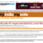 Dear #AAPtards, - Can u answer this ? Delhi polls: EC enquiry into Kejriwal's 3 voter IDs >> http://t.co/m3ufkxeDMR