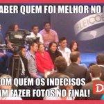 """RT @MarcosTenorio_: Quer saber quem foi melhor no debate da Globo e vencerá, dá uma olhadinha com quem os indecisos fizeram """"selfie"""": http://t.co/gTX1pmIX5W"""