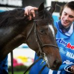 Adelaide & David Bergin after winning the Cox Plate @IREthoroughbred @Aidan_m_ @ThirdDividend @CarnivalRSN http://t.co/c0iLnZhXfs