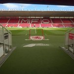 RT @watfordfcsays: And the players view when they walk out of The Riverside tunnel. Real-time in game updates here for MFC v #watfordfc http://t.co/6hnaxQzFMq