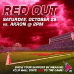 GET UP @BallStateFB fans! Its GAMEDAY! Time to RED OUT #Akron. See you at The Scheu at 2pm! #ChirpChirp #1T1M http://t.co/eDS3LTPgyh