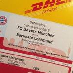 Wenn der Postmann von @DHLPaket 3x klingelt und Karten vom @FCBayern für #FCBBVB bringt, steigt die Vorfreude sofort. http://t.co/VHJxLeFJeY