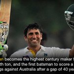 Younis scores record ton as Pakistan declare http://t.co/lcRXExf4Zm http://t.co/z6Evkr69rQ