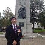 Jim Gordon, retired Royal Canadian Navy officer, said todays vigil at #Halifax cenotaph to remember fallen soldiers http://t.co/bybVtkx467