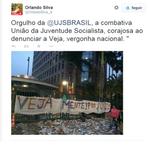 #Aecio45PeloBrasil - Ex-ministro da Dilma, demitido p/ ROUBO,manifesta orgulho p/terroristas q atacaram sede da Veja http://t.co/TRqIfIQLVo