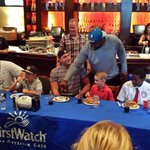 #Jaguars players enjoyed a pancake eating contest while raising money for @ZanesParade. #ZBPFCakes4Cancer http://t.co/4UU6jwgynn