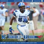 Memphis leads SMU 31-7 at the half. Tigers with 367 yards total offense in 1st half #gotigersgo #MEMvsSMU http://t.co/qrYW6w69zD