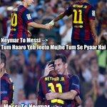 RT @KhanMemes: Real Madrid 3-1 Barcelona ! Messi & Neymar Be Like ... #Ronaldo #HalaMadrid #Football #CR7 #ElClasico #Suarez http://t.co/Vezia11U3D