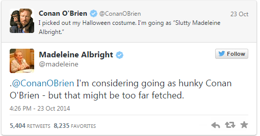 Don't mess with Madeleine Albright on Twitter http://t.co/YXi9m44Owi http://t.co/cquju3sI2l