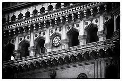 #Explore #Telangana The clock at The Charminar in monochrome http://t.co/zlG5SaoG9U