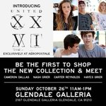 RT @HayesGrier: Our line #UnitedXXVI is OUT TODAY go check it out .Come mee us tomorrow at the @Aeropostale Glendale mall in CA http://t.co/tG7V9g2mYq