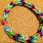 Just made my second loom band! Happiness!