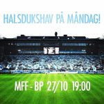 Säsongens sista allsvenska hemmamatchen. Komsi, komsi - och glöm inte ta med dig halsduken! #MalmöFF #MFF http://t.co/ImAz2nHp2e