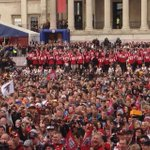 RT @FalconsPR: Falcons at the NFL Fan Festival in Trafalger Square. Atlanta plays Detroit at Wembley Stadium on Sunday. http://t.co/JP5sINViKq