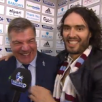 """RT @BBCMOTD: """"Russell Brand is kissing me, I love it"""" - says Sam Allardyce after #whufc win. http://t.co/gwLPGtinfV http://t.co/fg6wBzF2Nu #MOTD"""