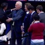 Luis Enrique, Leo Beenhakker y Fabio Capello, reunión de clásicos en el campo del Bernabéu. http://t.co/IxqWW3xeWy
