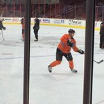 The ghost has appeared! @s_ghost14 #Flyers http://t.co/mlSQEVJWqm