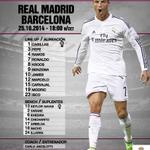 RT @realmadrid: ¡La alineación del Clásico ante el Barcelona, en exclusiva en Twitter! #RealMadridvsFCB #RMLive http://t.co/fB0SrhIZBQ