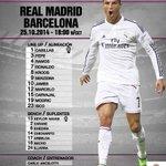 تشكيلة ريال مدريد في الكلاسيكو! #هلامدريد http://t.co/OEazyeERlH