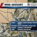 Wind Advisory for NW Clark, Nye and Lincoln Counties. Gusts to 50mph possible. Gusty winds in Las #Vegas too #nvwx http://t.co/p5m7Wy9S61