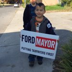 RT @DougFord2014: Our supporters come out in all sizes. Thank you #Toronto http://t.co/jlbDPdXYqZ