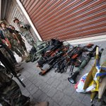 Photo: Lebanese army confiscated weapons & ammunition from an apartment following clashes in Tripoli. #Lebanon (AFP) http://t.co/aVD8yWRDFN