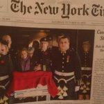 RT @spaikin: Cpl. Nathan Cirillos procession, front page above the fold in todays @NYTIMES. #OttawaShootings http://t.co/6qR8gfoRRe