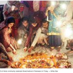 Beautiful #Diwali celebrations continue in #Peshawar.Photo in todays Dawn is one of the happiest from KP, #Pakistan. http://t.co/NF49poOGWV