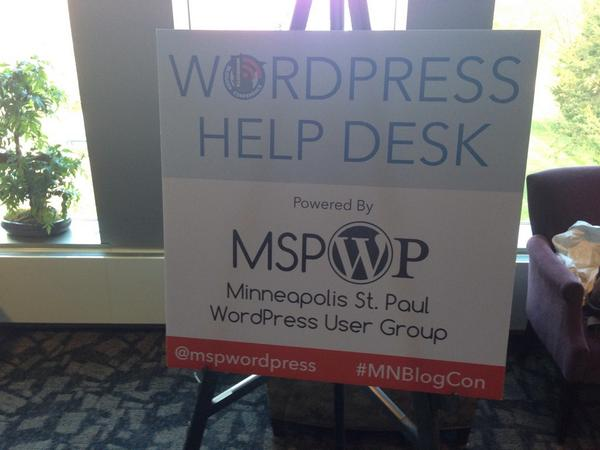 Got a #wordpress question? Ask Toby at the #MNBlogCon http://t.co/uwLrzIcNhi