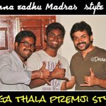 RT @DeepakDhanus: Kanna eadhu premji style @Premgiamaren thala plz rt r cmnt finally one more #premji fan spotted