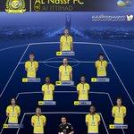 RT @AlNassrSaudiFC: تشكيلة النصر في مباراة الأتحاد اليوم #NFC http://t.co/t7UgFTD7tT