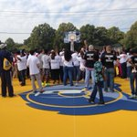 New courts at Lester Community Center are officially inaugurated by Mayor Wharton & shots are going up http://t.co/SZSJnzkVlB