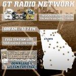 Listen to #GTvsPITT on #GaTech Radio Network, GT GameDay App or online (http://t.co/2x9yIQoat0) | Pregame at 1:30p. http://t.co/0h8fFHZ9jY