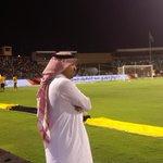 RT @alaa_saeed88: صورة رئيس #الاتحاد (( ابراهيم البلوي )) أثناء متابعته احماء اللاعبين قبل لقاء #النصر http://t.co/MrBPXTDzOo