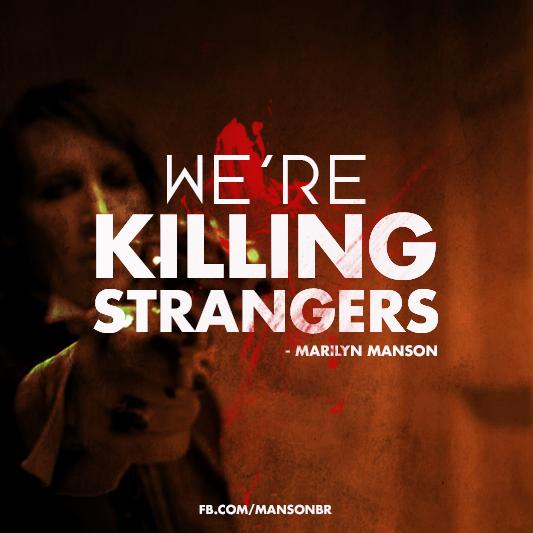 """We're killing strangers, so we don't kill the ones that we love"" - @marilynmanson fan art by @DVNO http://t.co/RiGfXk2hgs"
