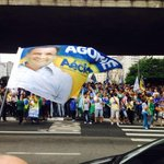 O MASP esta verde, amarelo, azul e branco #VemPraRua25deOutubro #EAecio45Confirma #Eleicoes2014 #Aecio45PeloBrasil http://t.co/zG9Dc0Zvqw